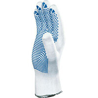 100% Polyamid Knitted Glove With Pvc Dots On Palm Size 7 Pack of 12 Pairs