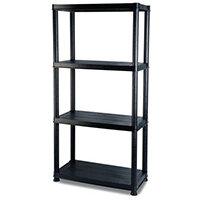 4 Shelf Plastic Storage Unit 1300x610x150mm