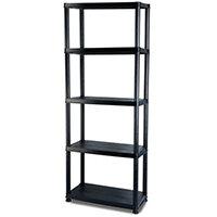 5 Shelf Plastic Storage Unit 1700x380x200mm