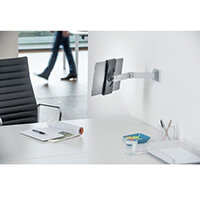 Durable Tablet Holder Wall Arm Aluminium