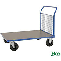 Platform Truck LxW 1283x800mm With One Mesh End With Brakes
