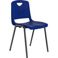 Titan Study 4 Leg Classroom Chair Blue