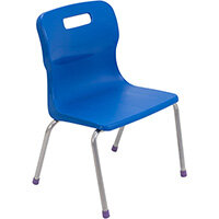 Titan 4 Leg Classroom Chair Size 2 310mm Seat Height (Ages: 4-6 Years) Blue T12-B2 - 5 Year Guarantee