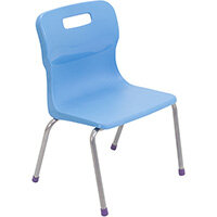 Titan 4 Leg Classroom Chair Size 2 310mm Seat Height (Ages: 4-6 Years) Sky Blue T12-CB - 5 Year Guarantee