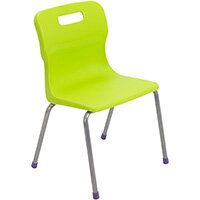 Titan 4 Leg Classroom Chair Size 2 310mm Seat Height (Ages: 4-6 Years) Lime T12-L - 5 Year Guarantee