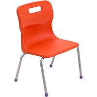 Titan 4 Leg Classroom Chair Size 2 310mm Seat Height (Ages: 4-6 Years) Orange T12-O - 5 Year Guarantee