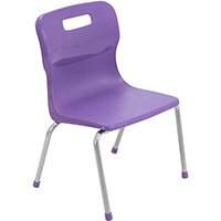 Titan 4 Leg Classroom Chair Size 2 310mm Seat Height (Ages: 4-6 Years) Purple T12-P2 - 5 Year Guarantee