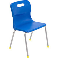 Titan 4 Leg Classroom Chair Size 3 350mm Seat Height (Ages: 6-8 Years) Blue T13-B - 5 Year Guarantee
