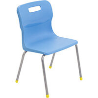 Titan 4 Leg Classroom Chair Size 3 350mm Seat Height (Ages: 6-8 Years) Sky Blue T13-CB - 5 Year Guarantee