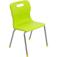 Titan 4 Leg Classroom Chair Size 3 350mm Seat Height (Ages: 6-8 Years) Lime T13-L - 5 Year Guarantee