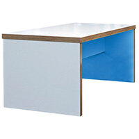 Frovi BLOCK Small Colour Panel Bench Table With 2 Tone Laminate Colours W1200xD800xH750mm