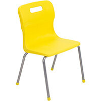 Titan 4 Leg Classroom Chair Size 3 350mm Seat Height (Ages: 6-8 Years) Yellow T13-Y - 5 Year Guarantee
