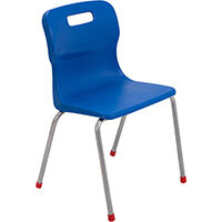 Titan 4 Leg Classroom Chair Size 4 380mm Seat Height (Ages: 8-11 Years) Blue T14-B - 5 Year Guarantee