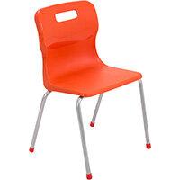 Titan 4 Leg Classroom Chair Size 4 380mm Seat Height (Ages: 8-11 Years) Orange T14-O - 5 Year Guarantee