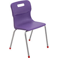 Titan 4 Leg Classroom Chair Size 4 380mm Seat Height (Ages: 8-11 Years) Purple T14-P - 5 Year Guarantee