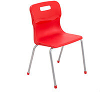 Titan 4 Leg Classroom Chair Size 4 380mm Seat Height (Ages: 8-11 Years) Red T14-R - 5 Year Guarantee