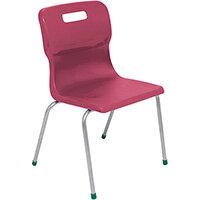 Titan 4 Leg Classroom Chair Size 5 430mm Seat Height (Ages: 11-14 Years) Burgundy T15-BU - 5 Year Guarantee