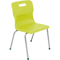 Titan 4 Leg Classroom Chair Size 5 430mm Seat Height (Ages: 11-14 Years) Lime T15-L - 5 Year Guarantee