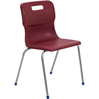 Titan 4 Leg Classroom Chair Size 6 460mm Seat Height (Ages: 14+ Years) Burgundy T16-BU - 5 Year Guarantee