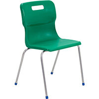 Titan 4 Leg Classroom Chair Size 6 460mm Seat Height (Ages: 14+ Years) Green T16-GN - 5 Year Guarantee