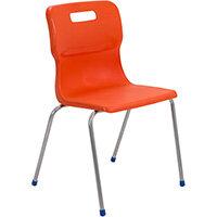 Titan 4 Leg Classroom Chair Size 6 460mm Seat Height (Ages: 14+ Years) Orange T16-O - 5 Year Guarantee