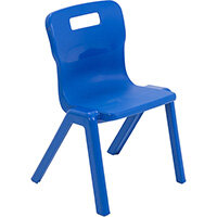 Titan One Piece Classroom Chair Size 2 310mm Seat Height (Ages: 4-6 Years) Blue T2-B - 20 Year Guarantee