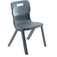 Titan One Piece Classroom Chair Size 2 310mm Seat Height (Ages: 4-6 Years) Charcoal T2-C - 20 Year Guarantee