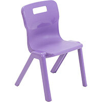 Titan One Piece Classroom Chair Size 2 310mm Seat Height (Ages: 4-6 Years) Purple T2-P - 20 Year Guarantee