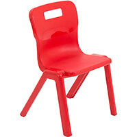 Titan One Piece Classroom Chair Size 2 310mm Seat Height (Ages: 4-6 Years) Red T2-R - 20 Year Guarantee
