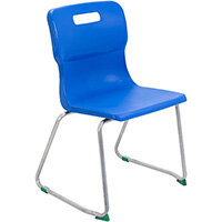 Titan Skid Base Classroom Chair Size 5 430mm Seat Height (Ages: 11-14 Years) Blue T25-B - 5 Year Guarantee
