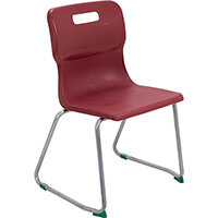 Titan Skid Base Classroom Chair Size 5 430mm Seat Height (Ages: 11-14 Years) Burgundy T25-BU - 5 Year Guarantee