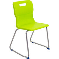 Titan Skid Base Classroom Chair Size 6 460mm Seat Height (Ages: 14+ Years) Lime T26-L - 5 Year Guarantee