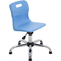 Titan Swivel Junior Classroom Chair with Glides 365-435mm Seat Height (Ages: 6-11 Years) Sky Blue T30-CBG - 5 Year Guarantee