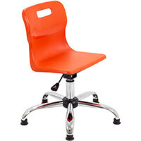 Titan Swivel Junior Classroom Chair with Glides 365-435mm Seat Height (Ages: 6-11 Years) Orange T30-OG - 5 Year Guarantee