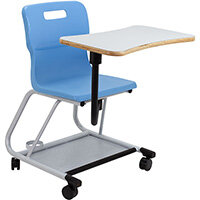 Titan Teach Chair with Writing Tablet 470mm Seat Height (Ages: 14+ Years) Sky Blue T300-CB - 5 Year Guarantee