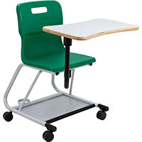 Titan Teach Chair with Writing Tablet 470mm Seat Height (Ages: 14+ Years) Green T300-GN - 5 Year Guarantee