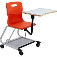 Titan Teach Chair with Writing Tablet 470mm Seat Height (Ages: 14+ Years) Orange T300-O - 5 Year Guarantee