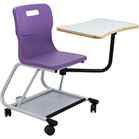 Titan Teach Chair with Writing Tablet 470mm Seat Height (Ages: 14+ Years) Purple T300-P - 5 Year Guarantee