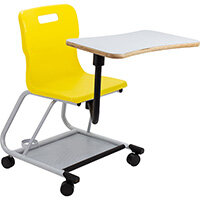 Titan Teach Chair with Writing Tablet 470mm Seat Height (Ages: 14+ Years) Yellow T300-Y - 5 Year Guarantee