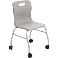 Titan Move 4 Leg Chair with Castors 470mm Seat Height (Ages: 14+ Years) Grey T301-G - 5 Year Guarantee