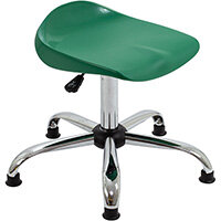 Titan Swivel Senior Classroom Stool with Glides 465-555mm Seat Height (Ages: 11+ Years) Green T33-GNG - 5 Year Guarantee