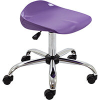 Titan Swivel Senior Classroom Stool with Castors 465-555mm Seat Height (Ages: 11+ Years) Purple T33-P - 5 Year Guarantee