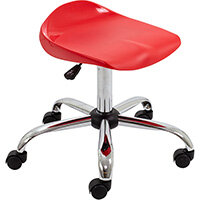 Titan Swivel Senior Classroom Stool with Castors 465-555mm Seat Height (Ages: 11+ Years) Red T33-R - 5 Year Guarantee
