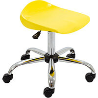 Titan Swivel Senior Classroom Stool with Castors 465-555mm Seat Height (Ages: 11+ Years) Yellow T33-Y - 5 Year Guarantee