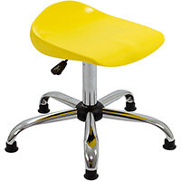 Titan Swivel Senior Classroom Stool with Glides 465-555mm Seat Height (Ages: 11+ Years) Yellow T33-YG - 5 Year Guarantee