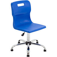Titan Swivel Senior Classroom Chair with Glides 435-525mm Seat Height (Ages: 11+ Years) Blue T35-BG - 5 Year Guarantee