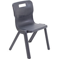Titan One Piece Classroom Chair Size 4 380mm Seat Height (Ages: 8-11 Years) Charcoal T4-C - 20 Year Guarantee