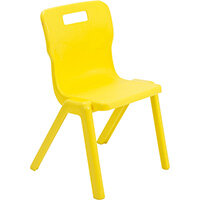 Titan One Piece Classroom Chair Size 4 380mm Seat Height (Ages: 8-11 Years) Yellow T4-Y - 20 Year Guarantee