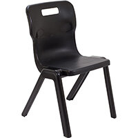 Titan One Piece Classroom Chair Size 5 430mm Seat Height (Ages: 11-14 Years) Black T5-BK - 20 Year Guarantee
