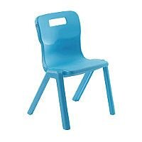 Titan One Piece School Chair Size 5 430mm Sky Blue Pack of 30